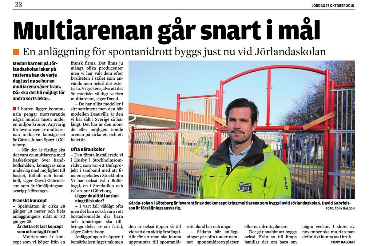 Reportage i Lokaltidningen Stenungsund